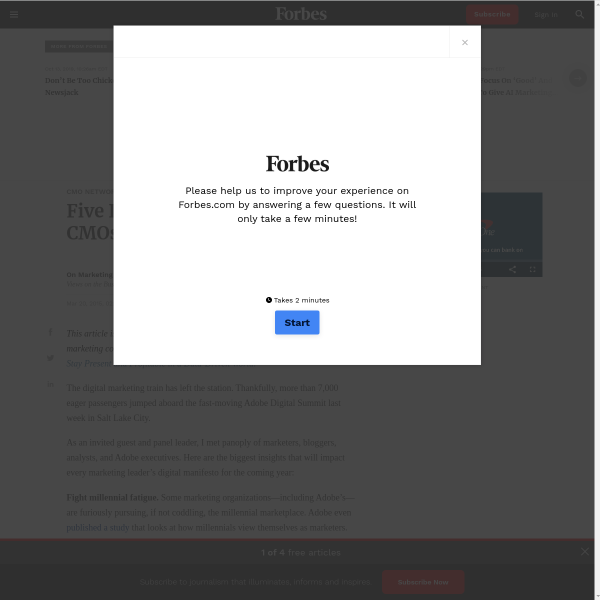 Five Innovation Trends For CMOs
