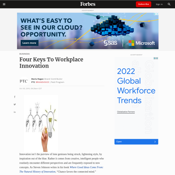 Four Keys To Workplace Innovation
