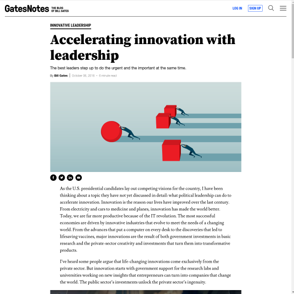 Accelerating Innovation with Leadership