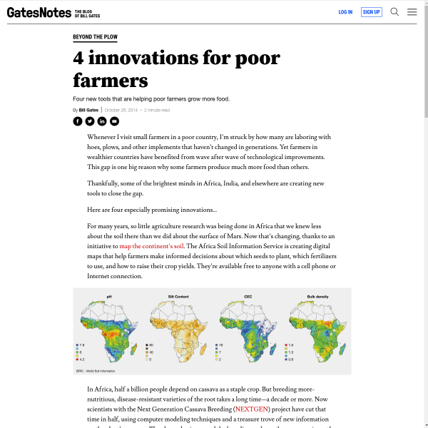 4 Innovations For Poor Farmers