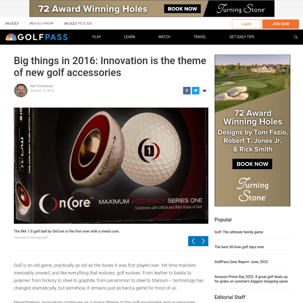 Big things in 2016: Innovation is the theme of new golf accessories