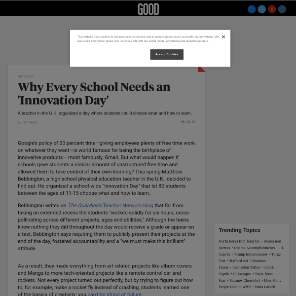 Why Every School Needs an 'Innovation Day'