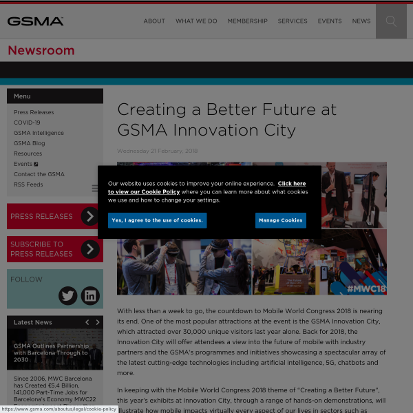 Creating a Better Future at GSMA Innovation City - Newsroom