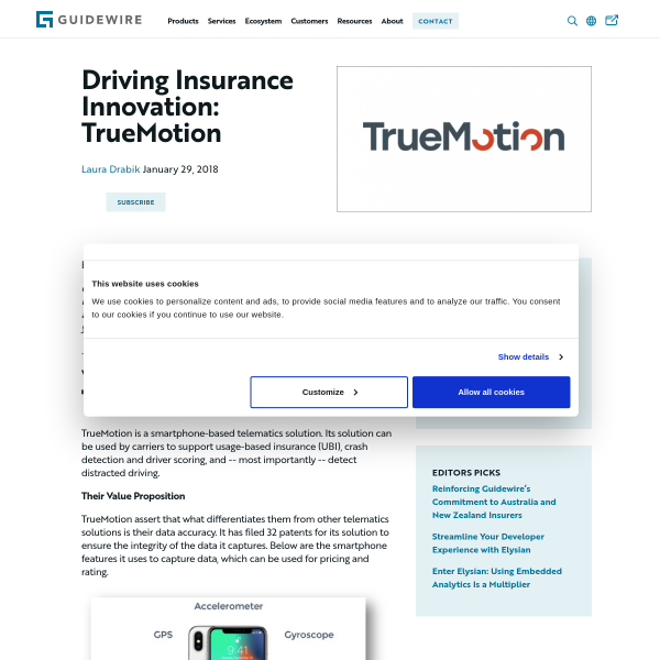 Driving Insurance Innovation: TrueMotion