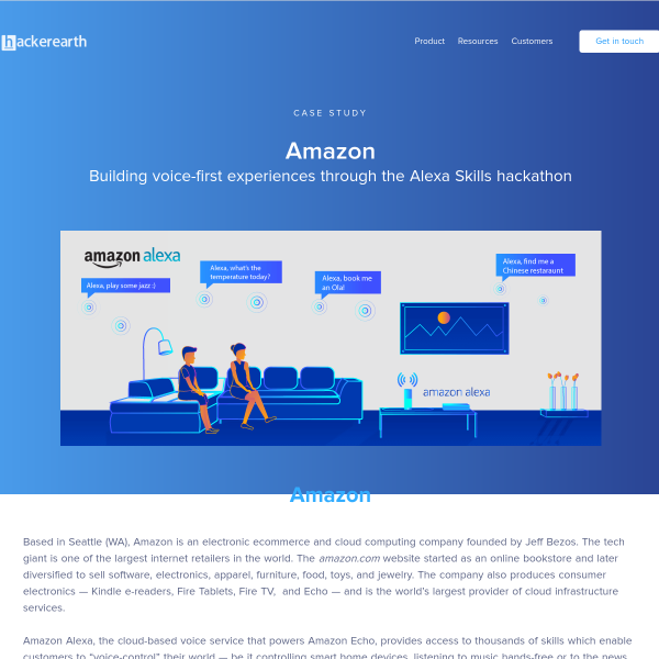 Innovation at Amazon - HackerEarth customer stories