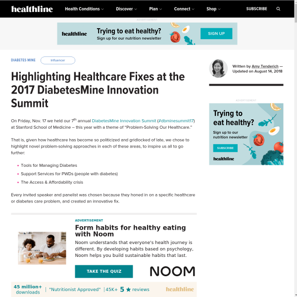 Report on the 2017 DiabetesMine Innovation Summit