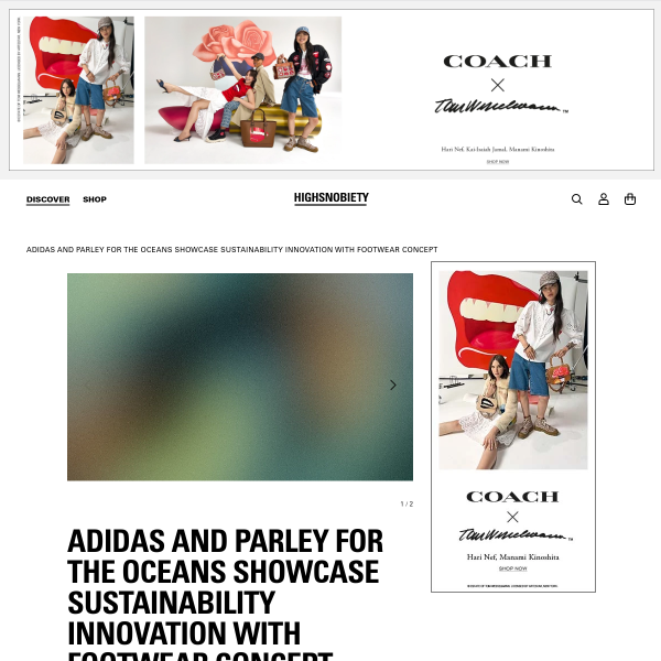 adidas and Parley for the Oceans Showcase Sustainability Innovation With Footwear Concept - Highsnobiety