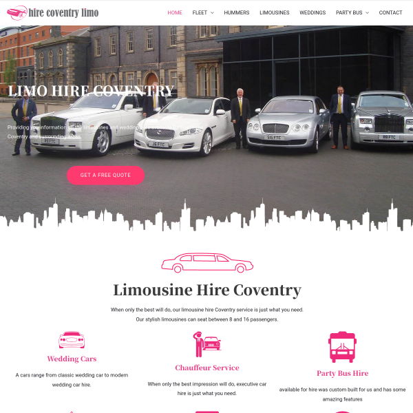 Read more about: Limo Hire Coventry