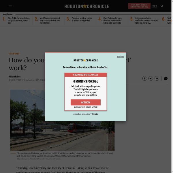 How do you make an 'innovation district' work?