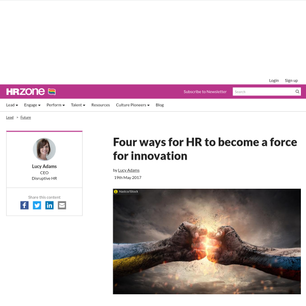 Four ways for HR to become a force for innovation