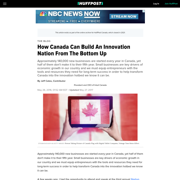 How Canada Can Build An Innovation Nation From The Bottom Up