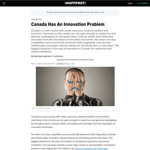 Canada Has An Innovation Problem
