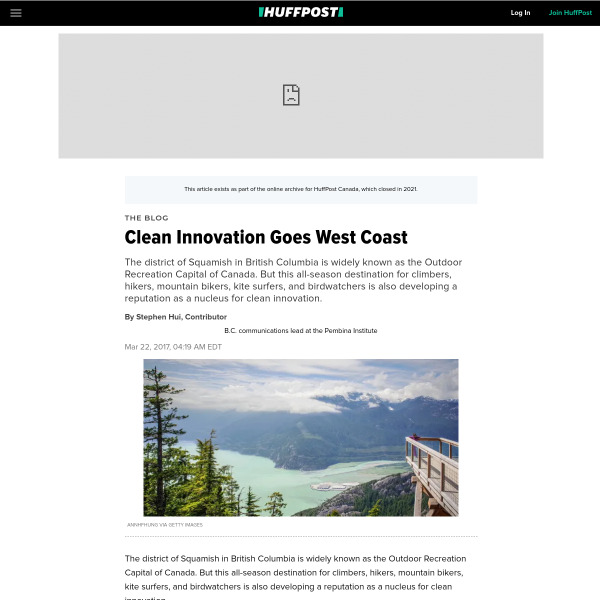 Clean Innovation Goes West Coast