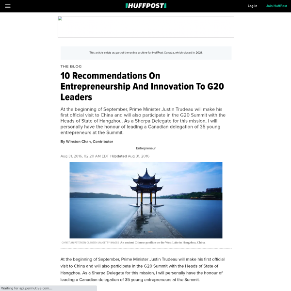 10 Recommendations On Entrepreneurship And Innovation To G20 Leaders