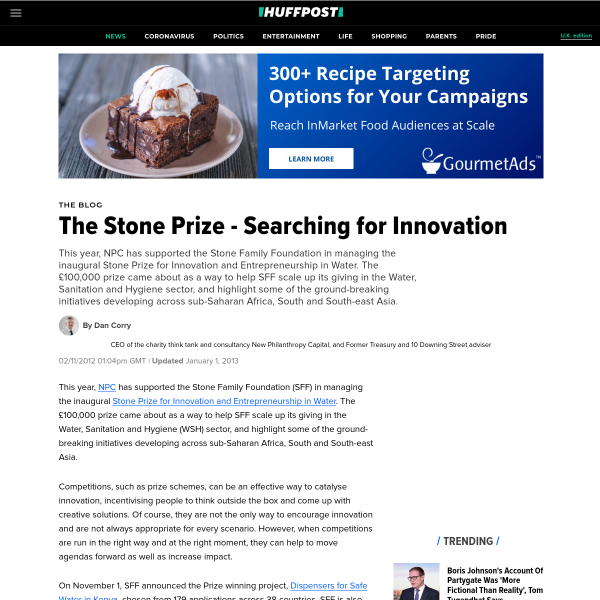 The Stone Prize - Searching for Innovation