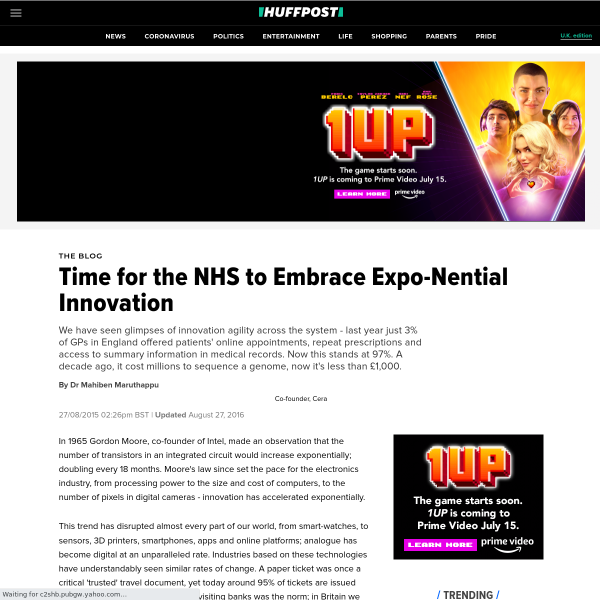 Time for the NHS to Embrace Expo-Nential Innovation