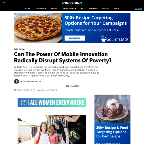 Can The Power Of Mobile Innovation Radically Disrupt Systems Of Poverty?