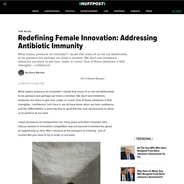 Redefining Female Innovation: Addressing Antibiotic Immunity