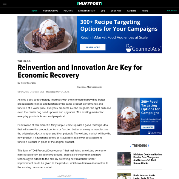 Reinvention and Innovation Are Key for Economic Recovery