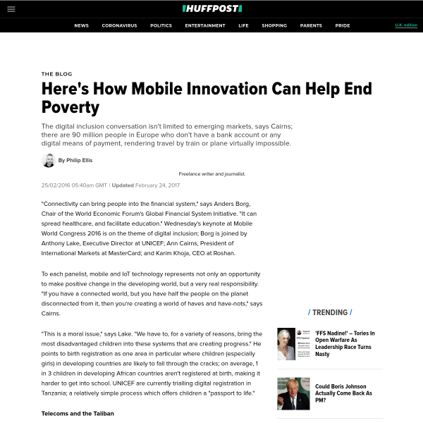 Here's How Mobile Innovation Can Help End Poverty