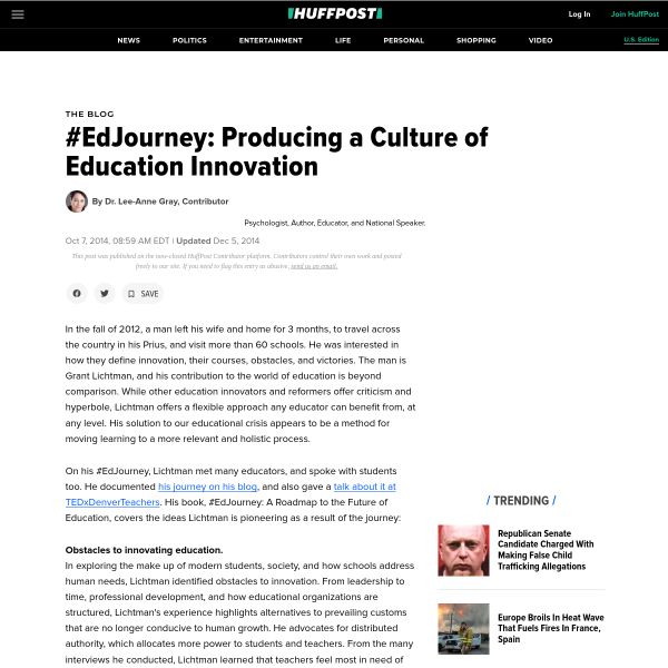 #EdJourney: Producing a Culture of Education Innovation