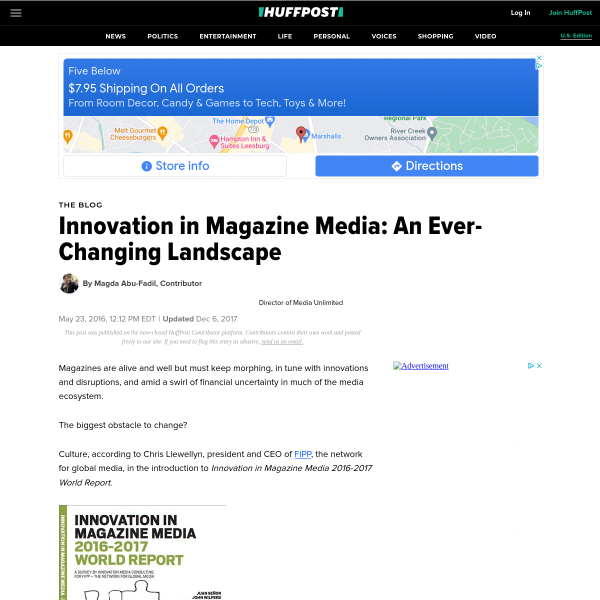 Innovation in Magazine Media: An Ever-Changing Landscape