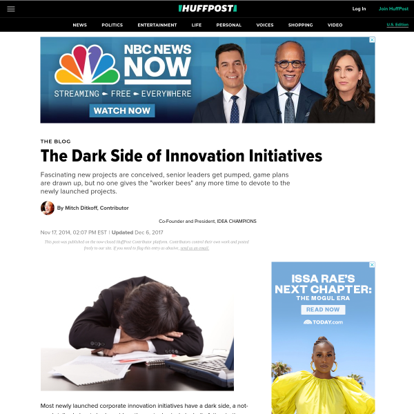 The Dark Side of Innovation Initiatives