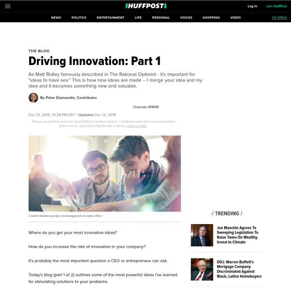 Driving Innovation: Part 1
