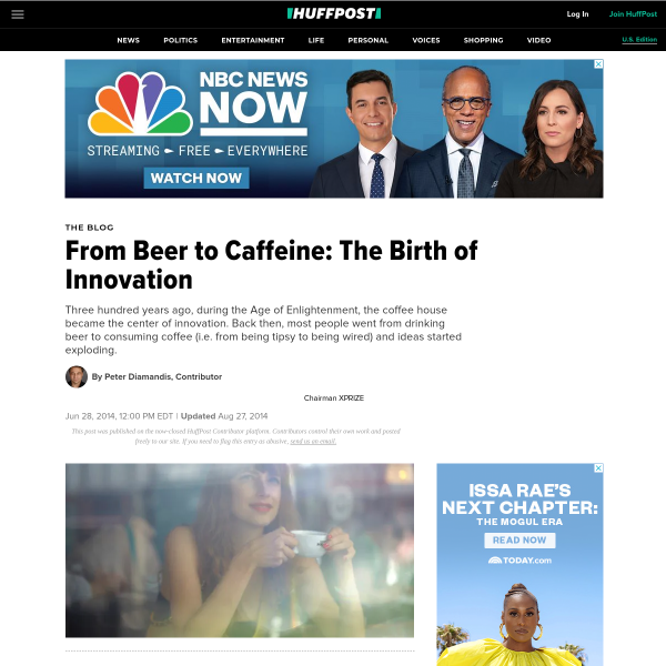 From Beer to Caffeine: The Birth of Innovation