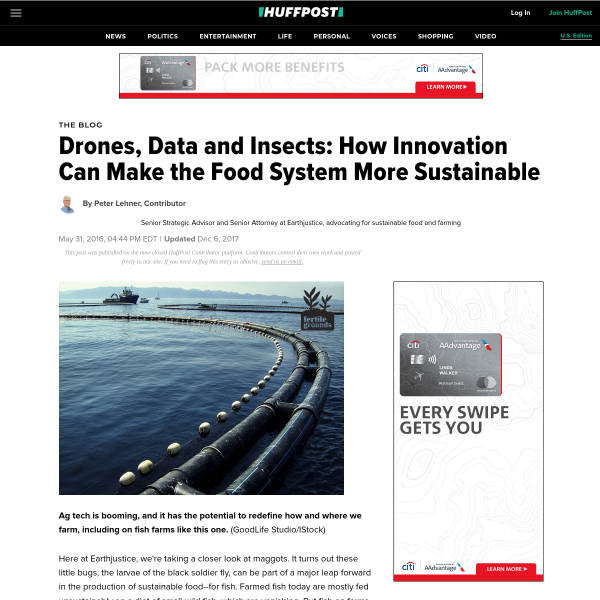 Drones, Data and Insects: How Innovation Can Make the Food System More Sustainable