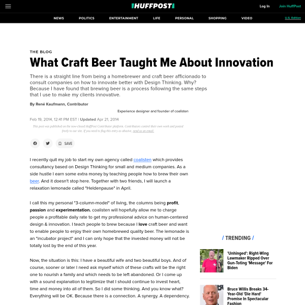 What Craft Beer Taught Me About Innovation