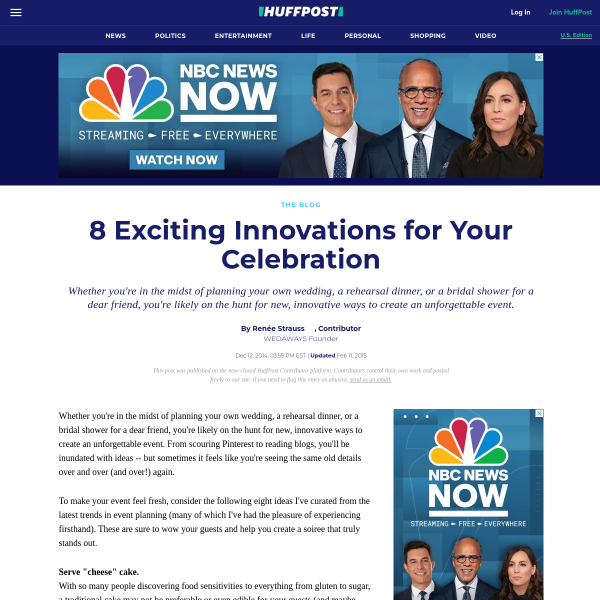 8 Exciting Innovations for Your Celebration