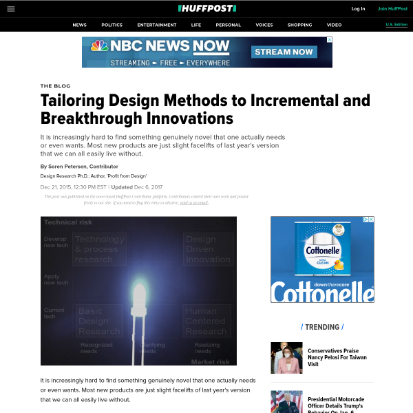 Tailoring Design Methods to Incremental and Breakthrough Innovations