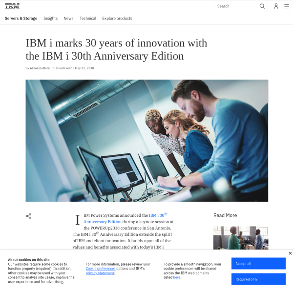 IBM i marks 30 years of innovation with the IBM i 30th Anniversary Edition - IBM IT Infrastructure Blog