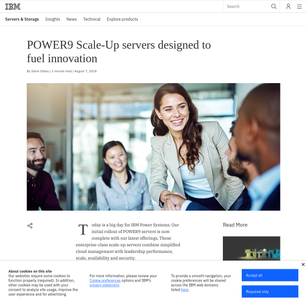 POWER9 Scale-Up servers designed to fuel innovation - IBM IT Infrastructure Blog