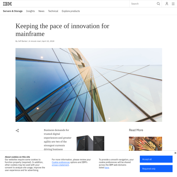 Keeping the pace of innovation for mainframe - IBM IT Infrastructure Blog