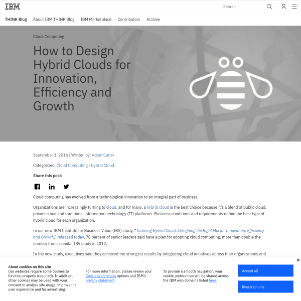 How to Design Hybrid Clouds for Innovation, Efficiency and Growth - THINK Blog