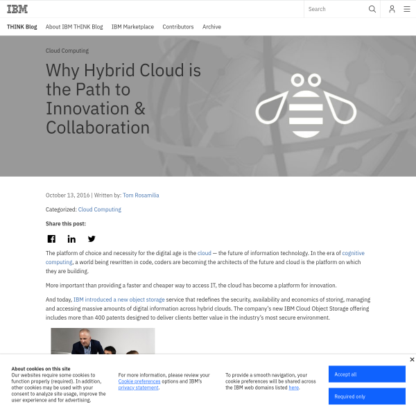 Why Hybrid Cloud is the Path to Innovation & Collaboration - THINK Blog