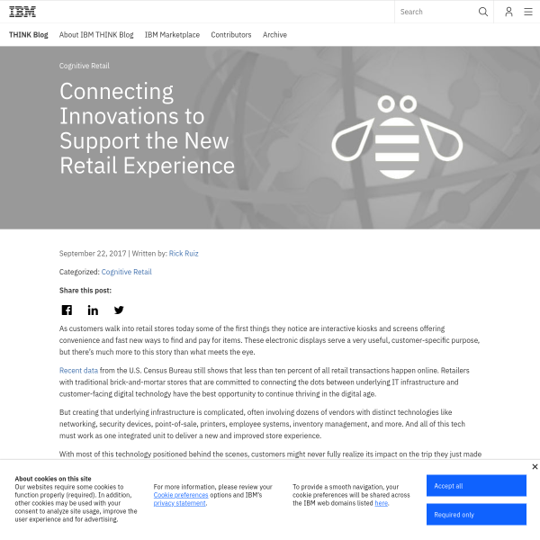 Connecting Innovations to Support the New Retail Experience - THINK Blog