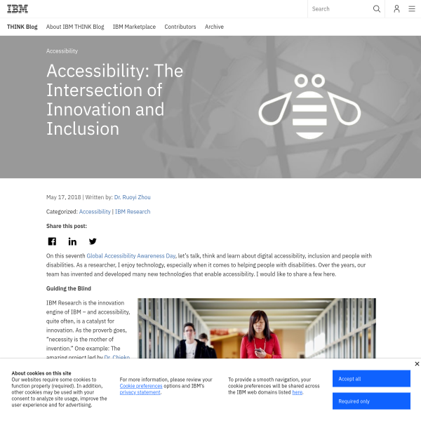 Accessibility: The Intersection of Innovation and Inclusion - THINK Blog