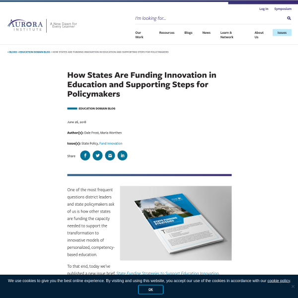 How States Are Funding Innovation in Education and Supporting Steps for Policymakers - iNACOL