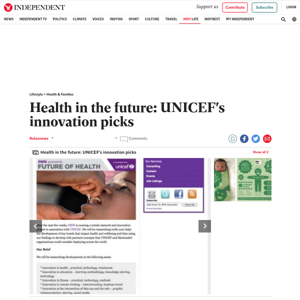 Health in the future: UNICEF's innovation picks