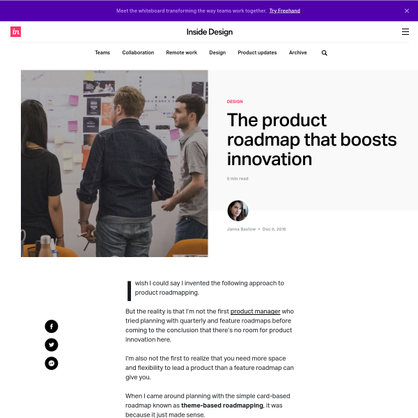 The product roadmap that boosts innovation - InVision Blog
