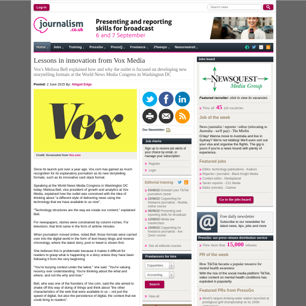 Lessons in innovation from Vox Media