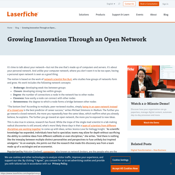 Growing Innovation Through an Open Network