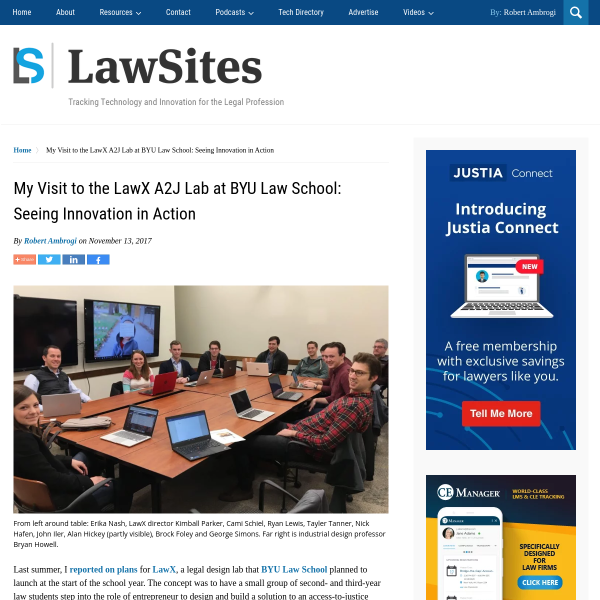 My Visit to the LawX A2J Lab at BYU Law School: Seeing Innovation in Action - LawSites