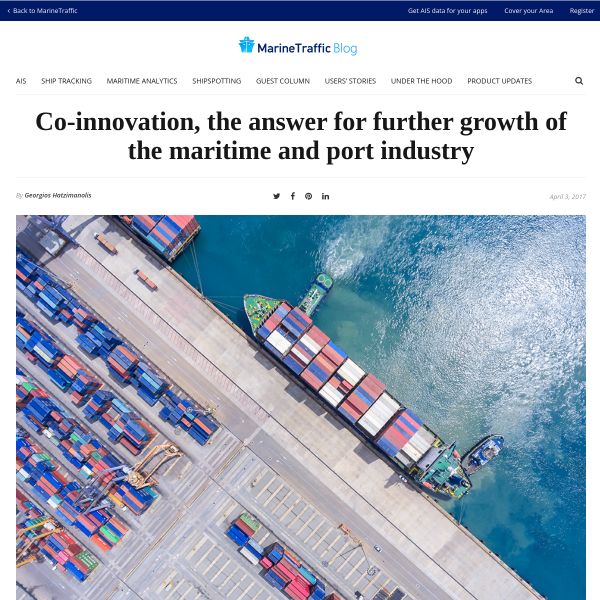 Co-innovation to drive further growth of shipping and ports