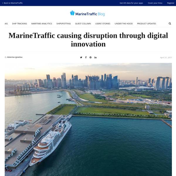 MarineTraffic causing disruption through digital innovation