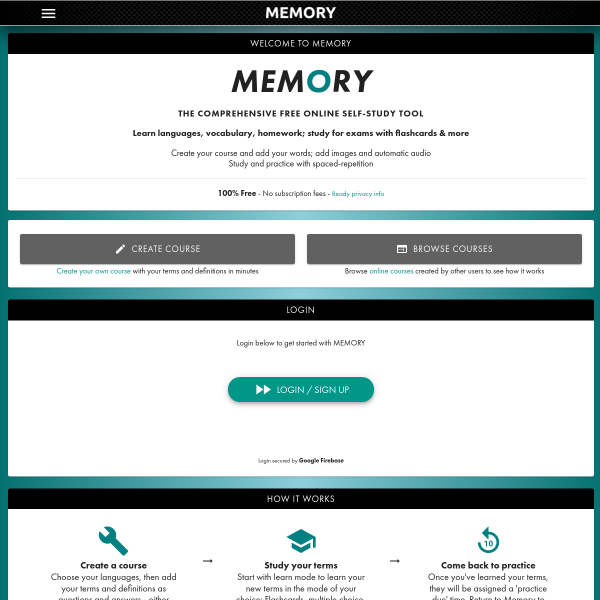 Read more about: Memory - Revision and Practice