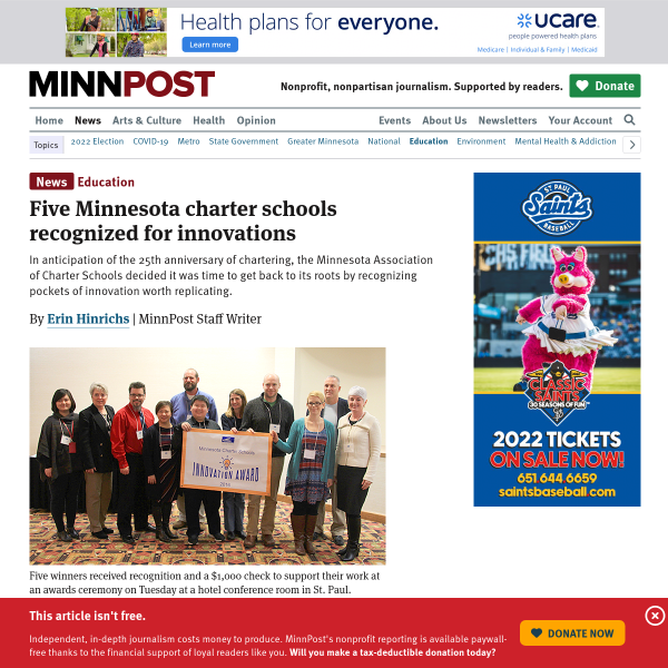 Five Minnesota charter schools recognized for innovations